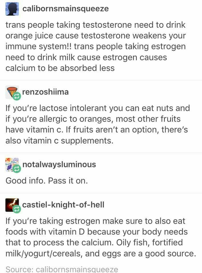 Important! Necessary nutrients to take while taking testosterone or estrogen. Vitamins. Nutrients. Transgender. LGBTQA+ #followback #FF #vitaminD #vitamins #instafollow