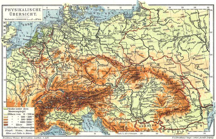 Mitteleuropa-Karte