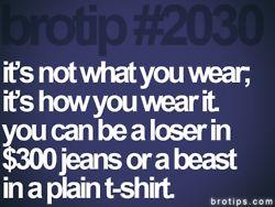 :) how you wear it