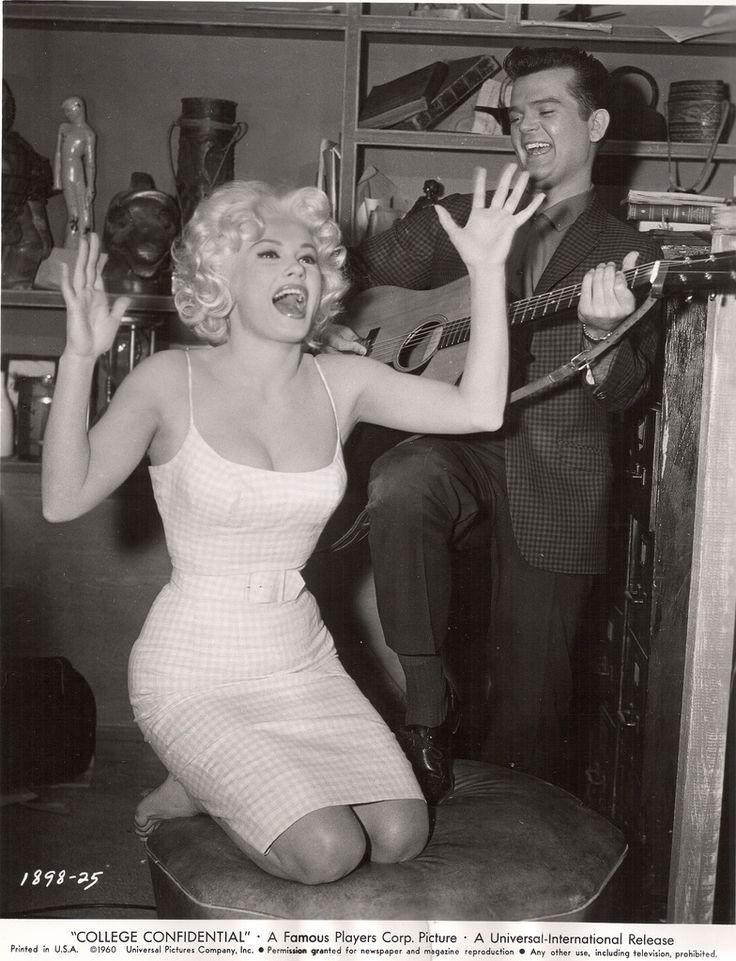 "Mamie Van Doren, Conway Twitty ""College Confidential"" (by pcarsola)"