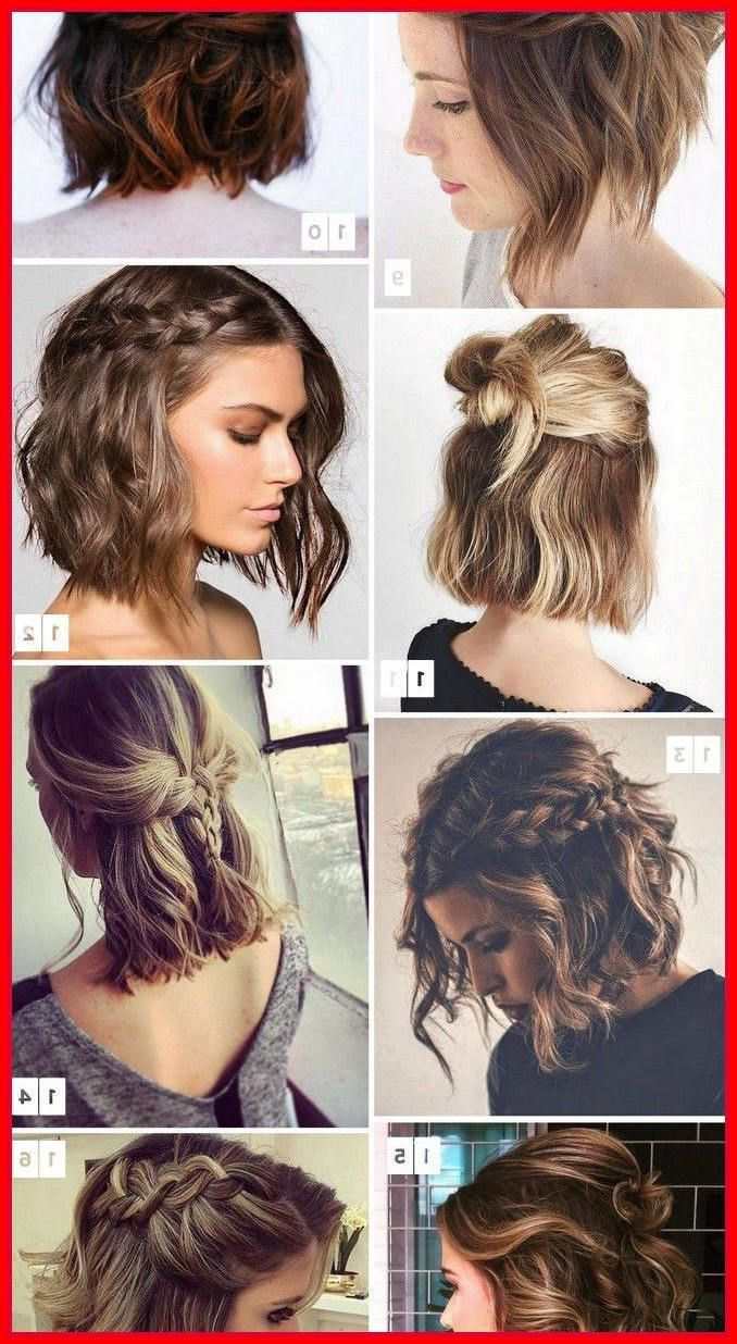 Wedding Hairstyles For Short Hair Updos Weddinghairmediumlength In 2020 Short Hair Updo Romantic Short Hair Short Hair Model