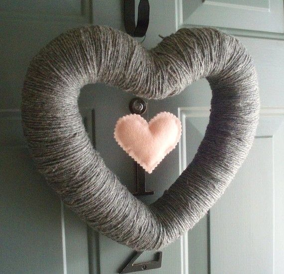 My Heart Handmade Front Door Yarn Wreath