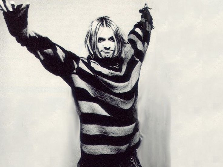 Kurt Cobain - in that hipster horizontal stripe look that's so popular now - for Bronco?  Stripes that transcend the decades?