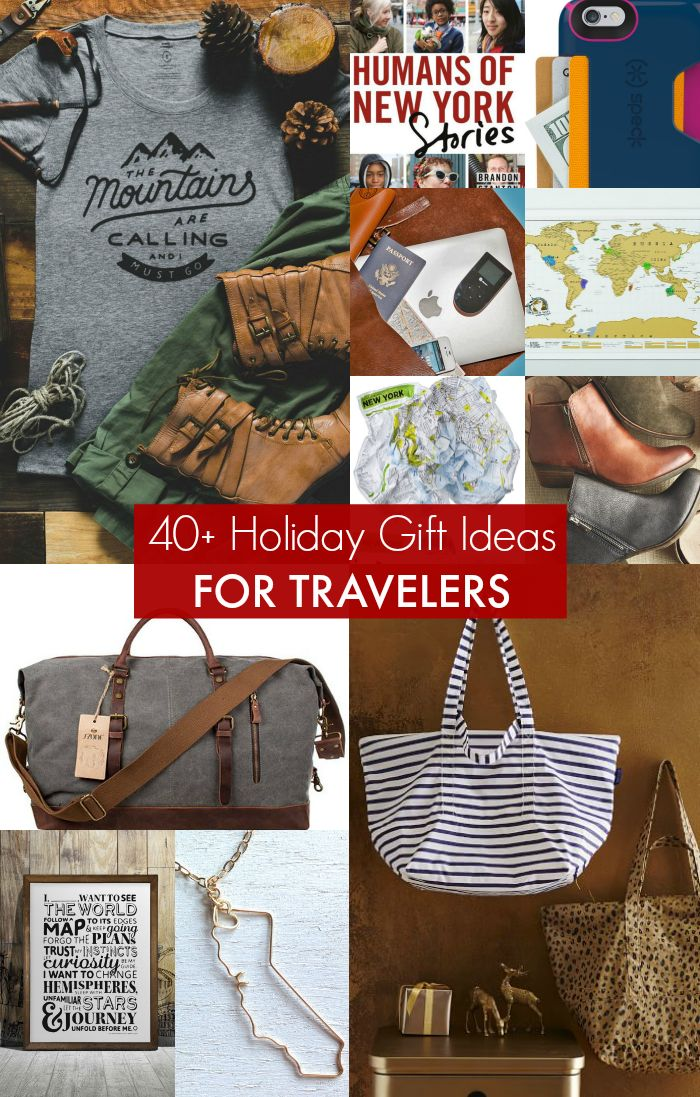 GIFTS FOR TRAVELERS: More than 40 holiday gifts ideas for travelers --> Pin this post for wanderlust-inspiring travel gift ideas for any occasion.