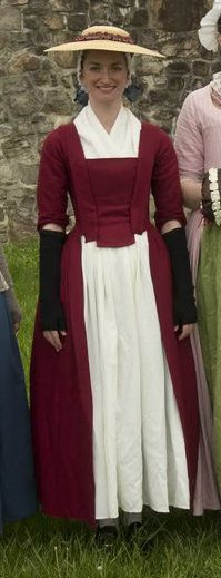Cranberry wool gown; 1770 From Blog: A Dedicated Follower of Fashion: 18th century
