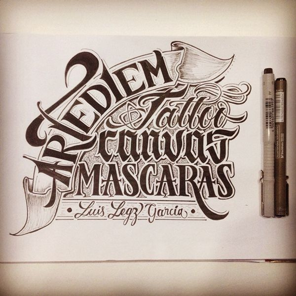 Handlettering and calligraphy on Behance