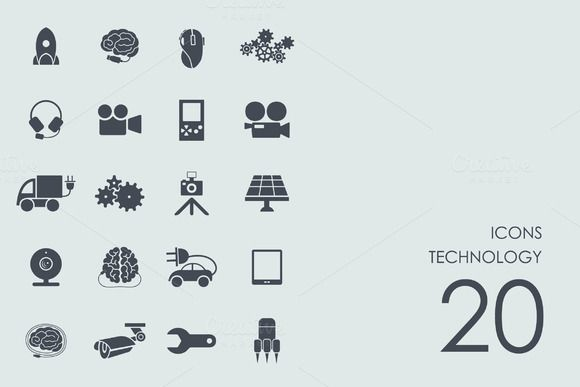 Technology icons CreativeWork247 – Fonts, Graphics, Themes, Templates