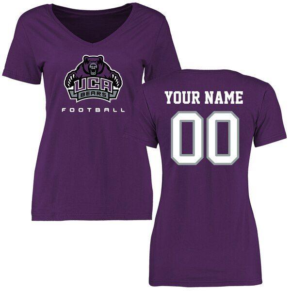 Central Arkansas Bears Women's Personalized Football T