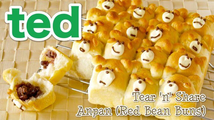 Tear 'n' Share ted Anpan (Kawaii Azuki Red Bean Buns) テッドちぎりあんぱんの作り方 - O...