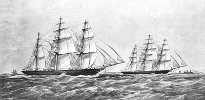 The Great Tea Race of 1866.  Fierce competition existed year round to be the vessel first back to London with the new shipment of tea from China; extra incentives were added in 1866, when heavy bets were made in England on the winner.