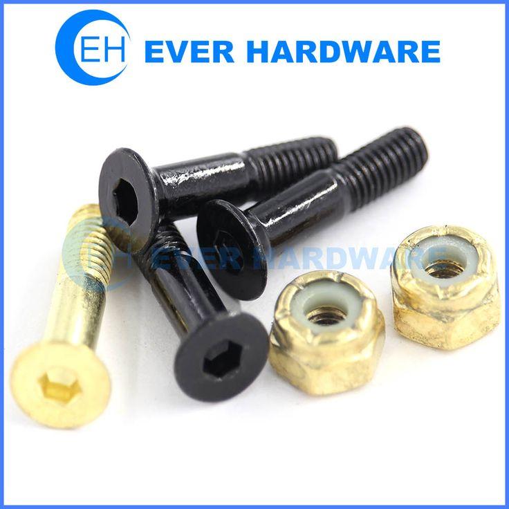 Standard skateboard hardware hex socket head 78 black yellow 1 nuts