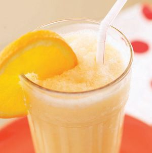 Buzz orange juice, strawberry yogurt, a mango and a banana and you've got a Creamy Orange-Mango Smoothie. Make it the night before so all you have to do is grab it and go in the morning.
