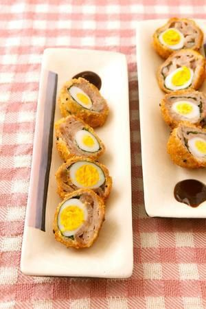 うずら卵の豚肉巻き揚げ | コウ ケンテツさんのレシピ【オレンジページ ...