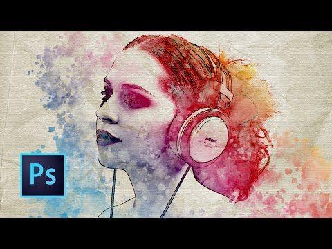 Tutorial Photoshop | Efecto Acuarela - YouTube