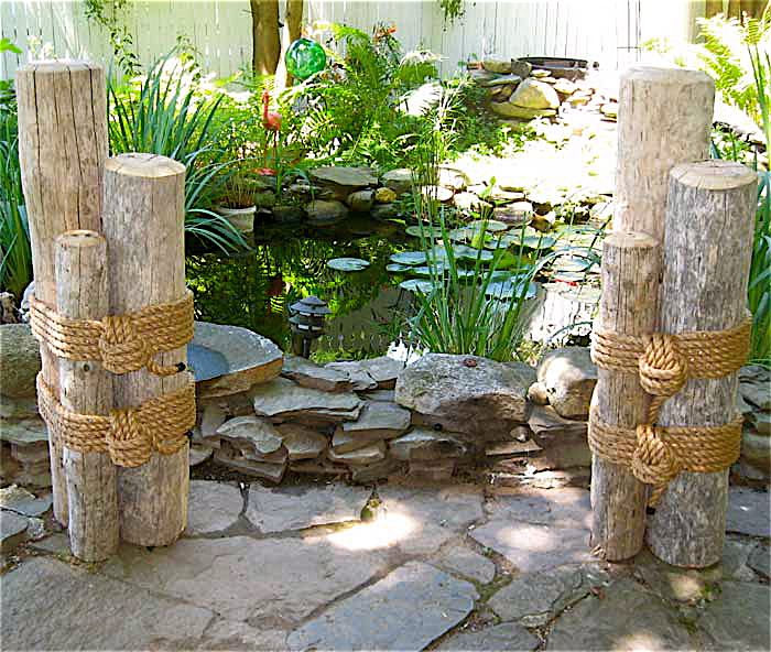 10 images about nautical pilings on pinterest nautical Beach patio decor ideas