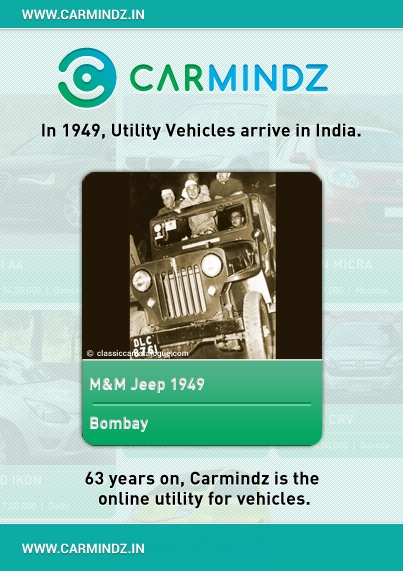 October 2nd, 1945, Mahindra & Mohammed was set up as a franchise for assembling jeeps from Willys, USA.  Two years later, India became an independent nation and Mahindra & Mohammed changed its name to Mahindra & Mahindra. Ghulam Mohammed migrated to Pakistan post-partition and became the first Finance Minister of Pakistan.  1949: Jeep assembly commenced.    Source: classiccarcatalogue.com