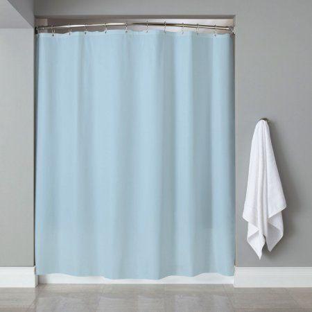popular bath 6 gauge deluxe hotel weight vinyl shower curtain liner 70 inchx72 inch blue