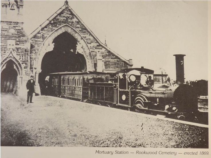 Mortuary Station Rookwood. Train at platform