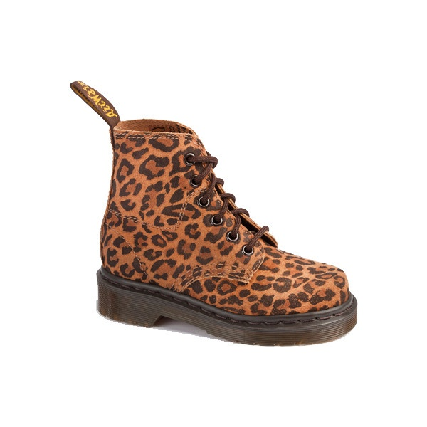 Dr Martens 8175 Kids Boot TAN LEOPARD MACULATO - Doc Martens Boots and Shoes ($80) found on Polyvore