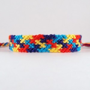 Autism Awareness Friendship Bracelet! I want to learn how to make these!!!!!