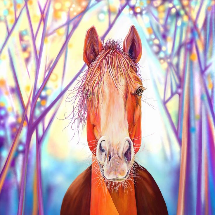 Great for a little horse lover's bedroom :) Print of painting. Horse at Dawn by Kate Green www.kategreendesign.com