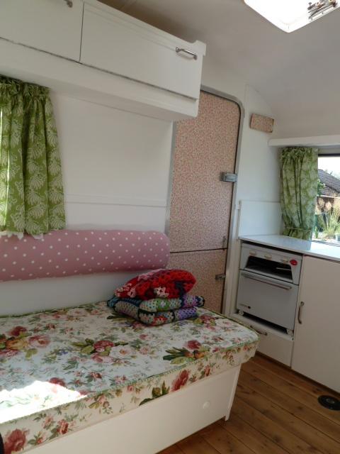 vintage caravan interior