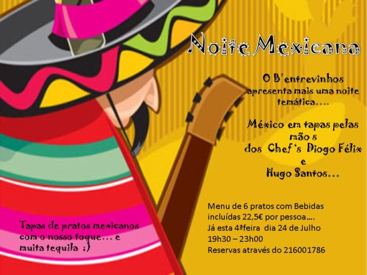 Noite Mexicana no Restaurante B'Entre Vinhos