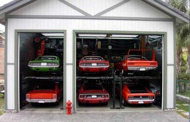 muscle car dream garage
