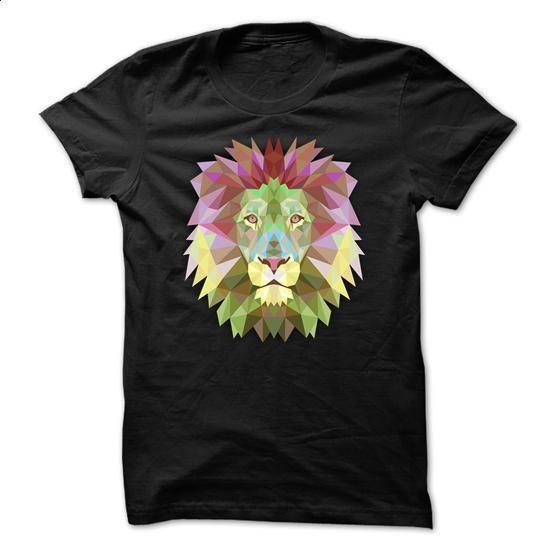Lion Face Low Poly Style - tee shirts #teeshirt #Tshirt