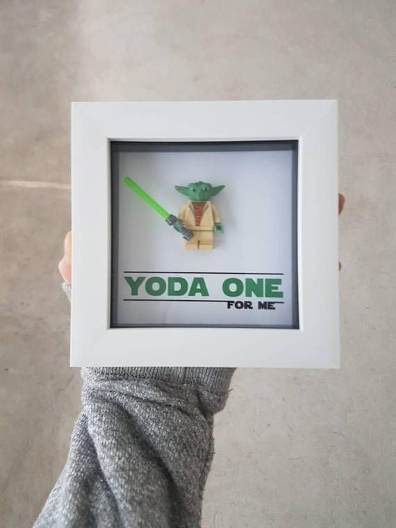 Star wars Gift for him / Yoda one for me quote / Minifigure Frame / Birthday Anniversary wedding present for Boyfriend Husband Girlfriend