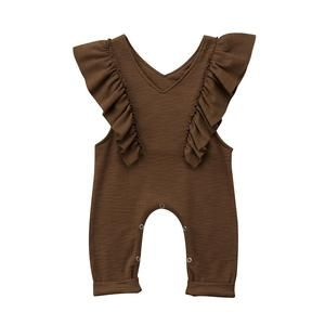 15a8896c2 Baby Girl Toddler Fashion Ruffle Jumpsuit Romper