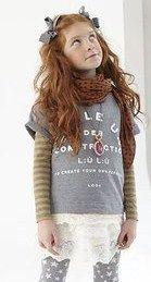 T-SHIRT LÚ LÚ,   T-Shirt da bambina e da ragazza di Lù Lù color grigio melange con stampa frontale a contrasto, manica corta con risvoltino, inserto in pizzo sul fondo. http://www.abbigliamento-bambini.eu/compra/t-shirt-lu-lu-2790140