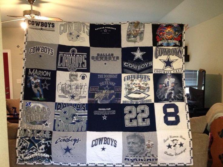 Dallas Cowboy T Shirt quilt.. Made by me Lisa Melendez