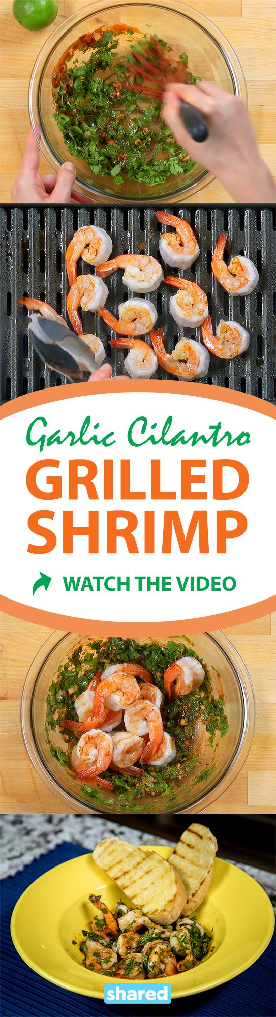 Garlic Cilantro Grilled Shrimp