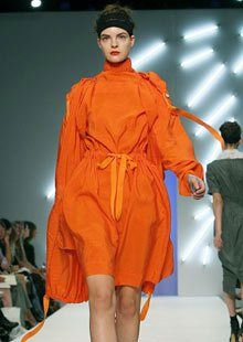 A tent - like creation from Betty Jackson at London fashion week spring / summer…