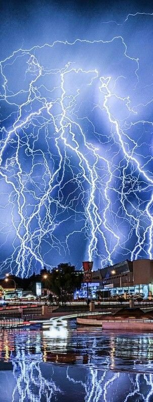 Multiple lightning strike