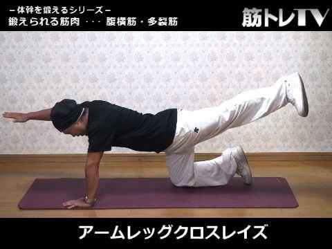アームレッグクロスレイズ/腹筋・背筋/体幹を鍛える体幹トレーニング