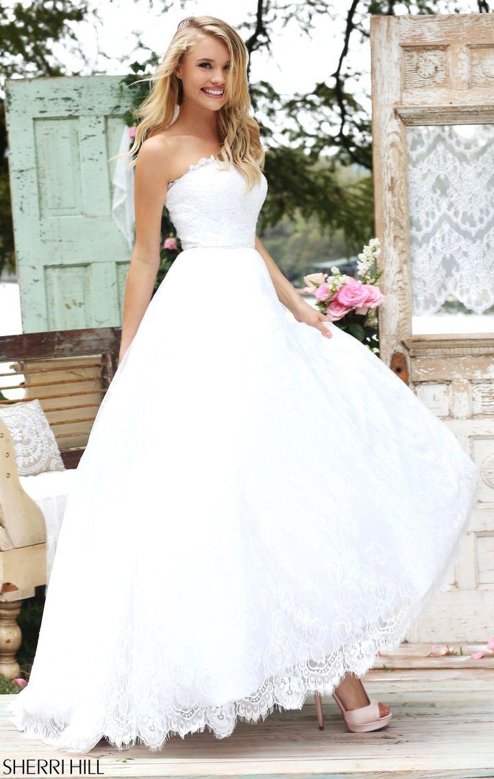 50490 summer wedding dress sherri hill wedding dresses