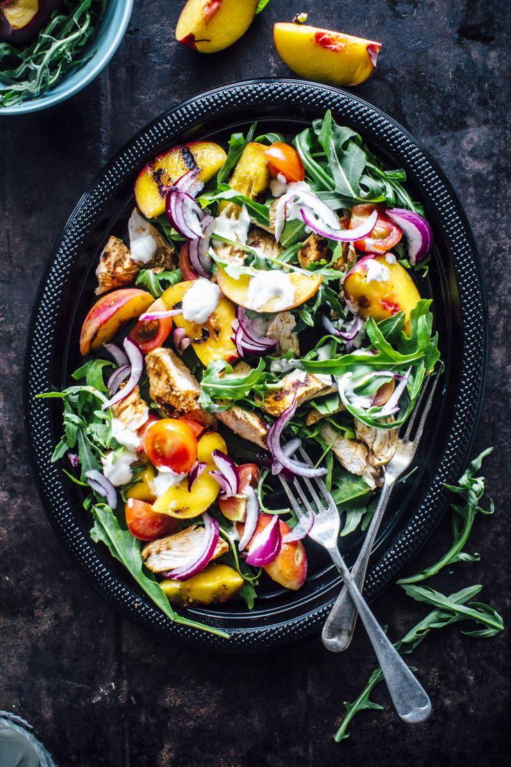 Easy Tandoori Chicken And Grilled Peach Salad