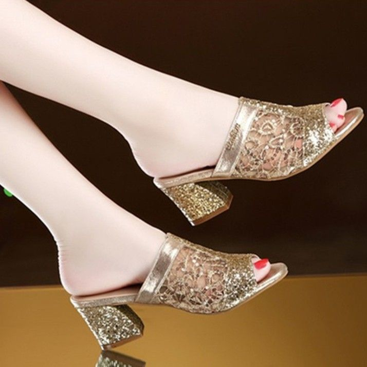 """Ladies Womens Lace Net Court Shoes Smart Wedding Bridal 2/"""" Mid High Heels Size"""
