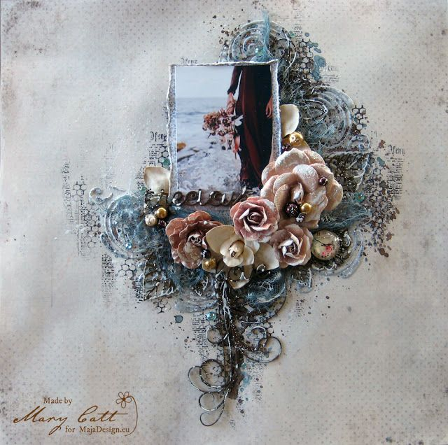 Mary's Crafty Moments: ''Precious Love'' - DT Layout for Maja Design Sept...