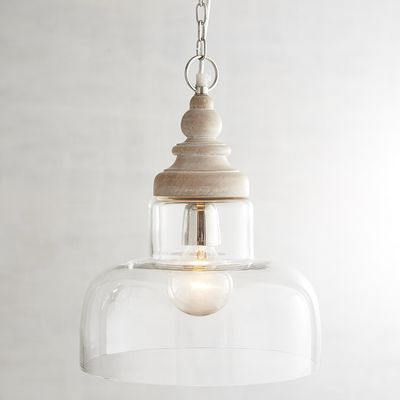 camon wood u0026 glass pendant light - Glass Pendant Lighting