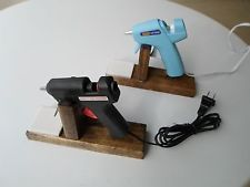 Handmade Hot Glue Gun Holder Wood Stand for Floral Crafts and Scrapbooking