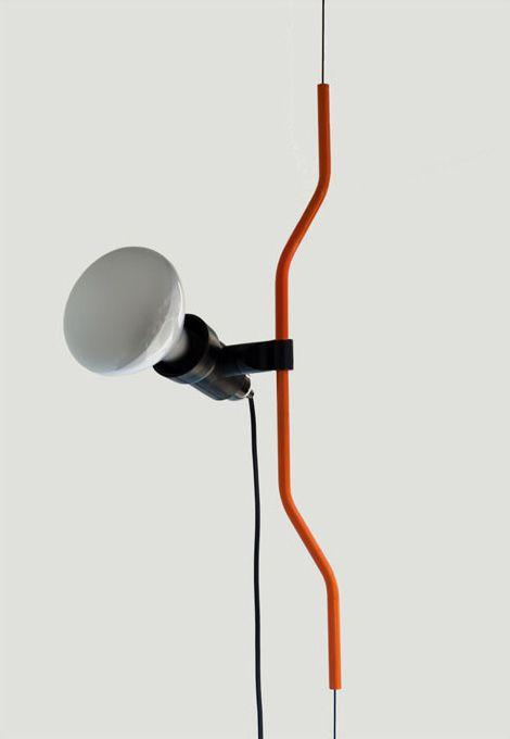 Parentesi pulley lamp designed byAchille Castiglioniand Pio Manzù for Flos, 1970.