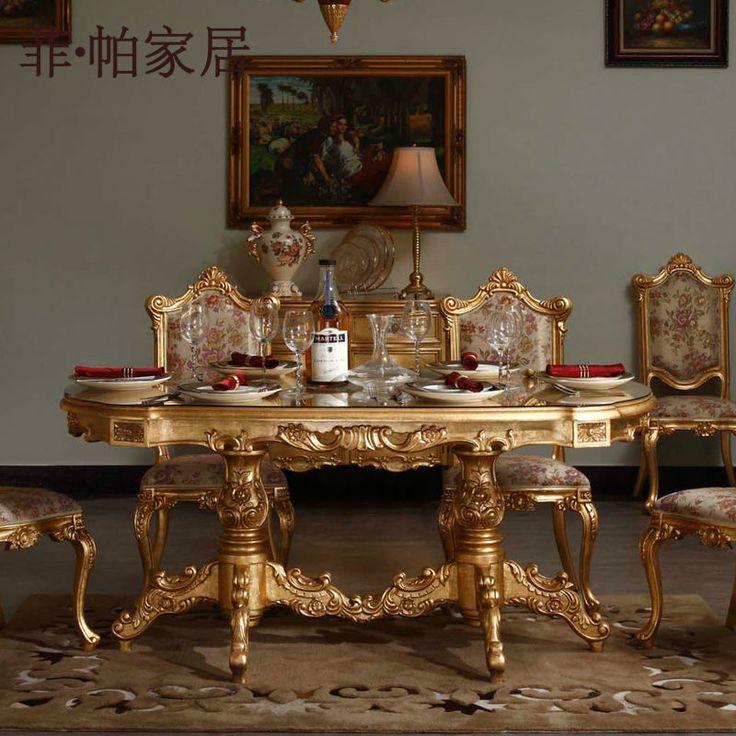 Muebles italianos clásicos-mano tallada de madera maciza comedor…