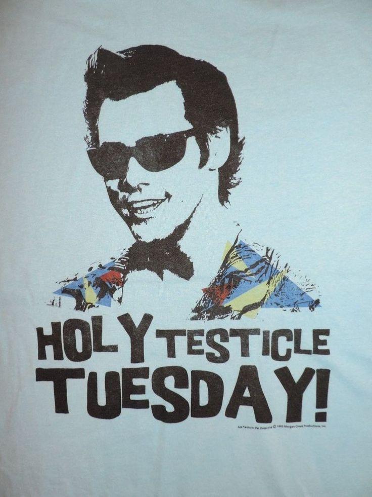 Ace Ventura Pet Detective T-Shirt Holy Testicle Tuesday! Jim Carrey 90's Tee