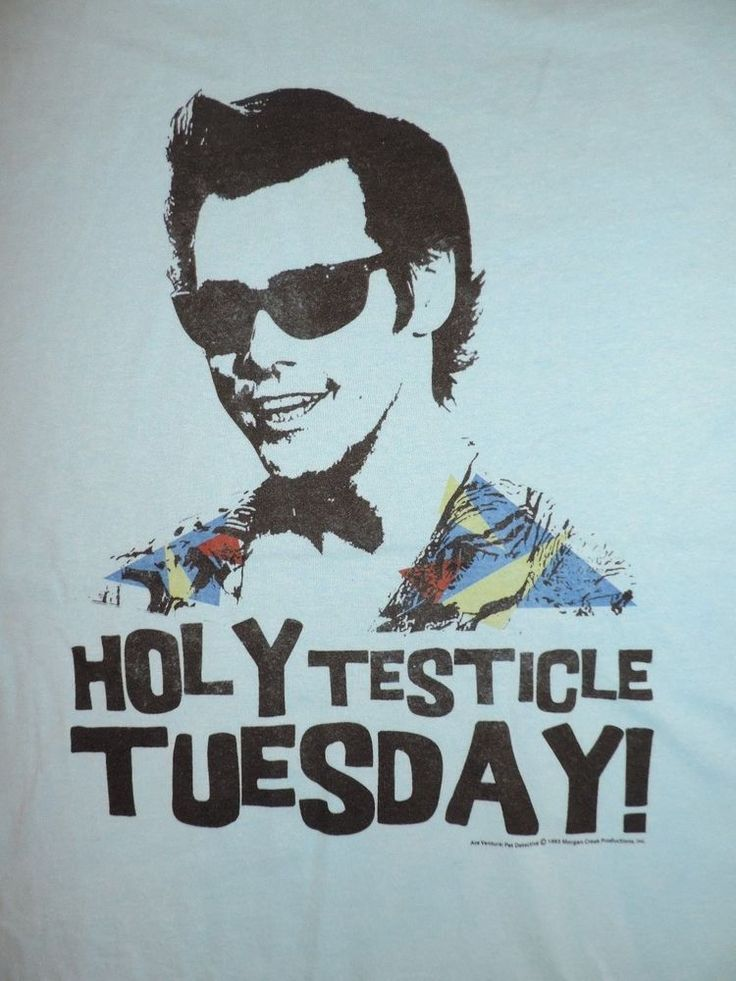 Ace Ventura Pet Detective T-Shirt Holy Testicle Tuesday! Jim Carrey 90's Tee  #AceVentura #GraphicTee