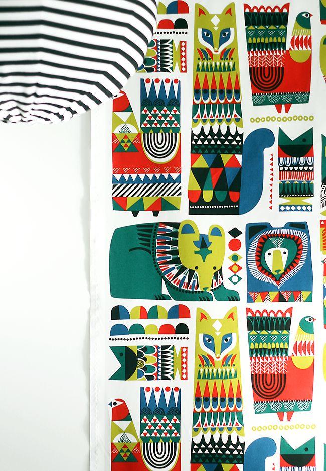I'd also be OK with having a Marimekko pattern somewhere • Sanna Annukka + Marimekko A/W 2014