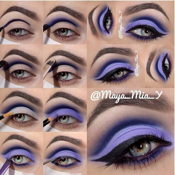 Feeling colorful? Try out this bright purple eyeshadow look by Maya Mia Y! Get your makeup at Beauty.com!