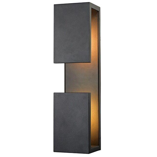 Titan Lighting Pierre Textured Matte Black Outdoor LED Wall